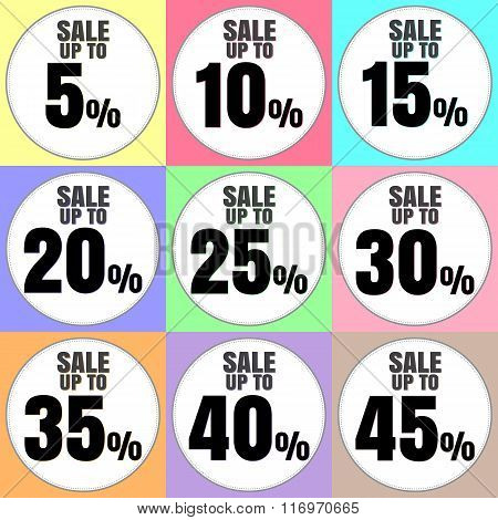 Sale Discount Icons.