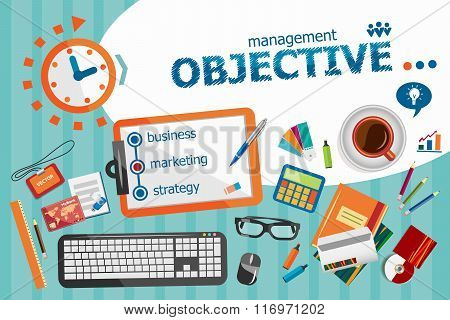Objective Design Concept. Typographic Poster.