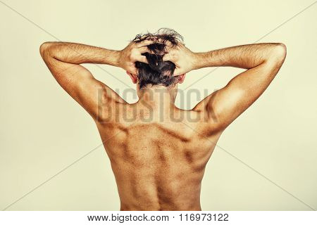 Naked Back Of Man