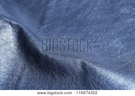 Black wrinkled leather texture background