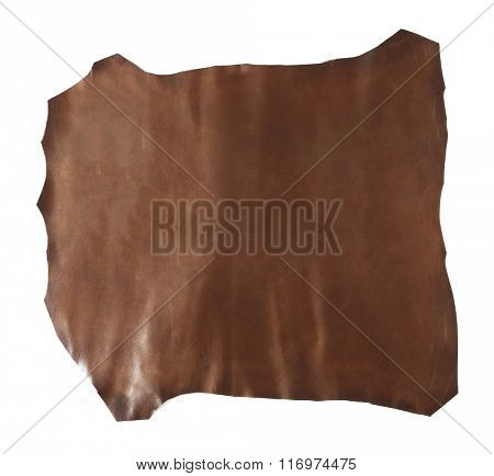 Brown piece of cloth, isolated on white