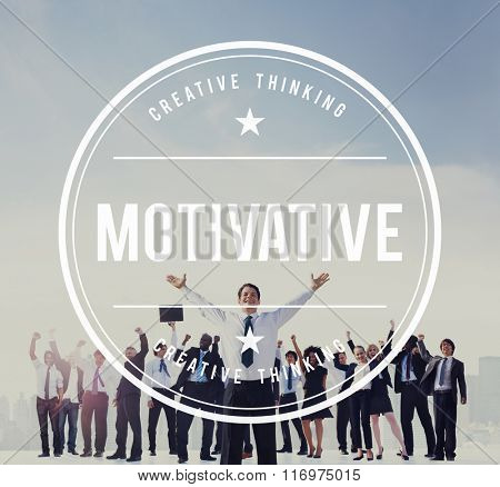 Business People Motivate Celebration Success Concept