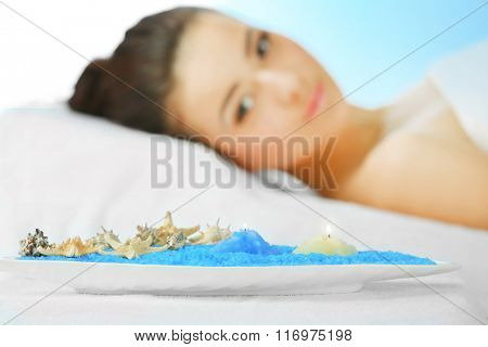 Spa concept. Woman relaxing.