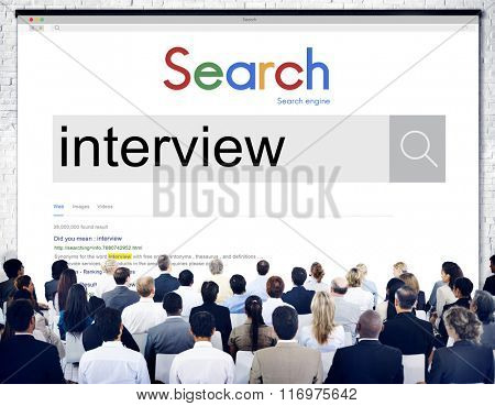 Interview Journalism Recruitment Report Research Concept