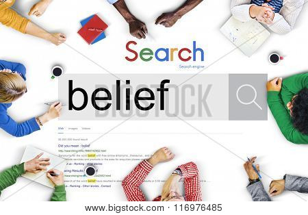 Belief Faith Spirituality Religion Hope Mindset Worship Concept