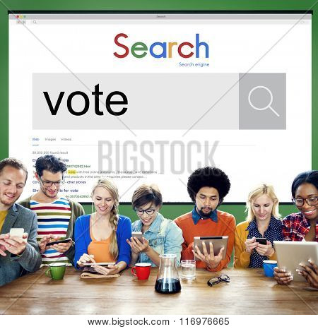 Vote Voter Voting Polling Poll Decision Campaign Concept