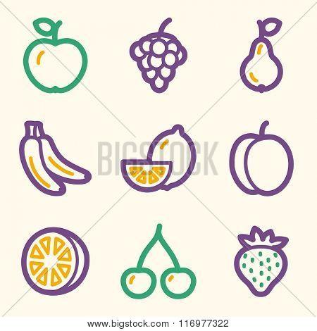 Fruits web icons