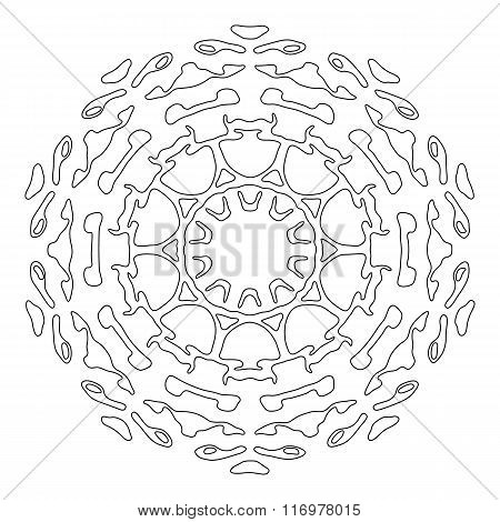 Zentangle style mandala. Hand drawn vector illustration