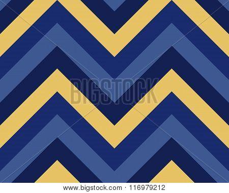 Seamless geometric strip pattern. Stripy texture. Zig-zag line background. Diagonal strips. Blue, ye
