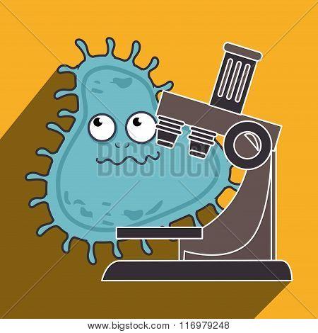 Germs and bacteria cartoon