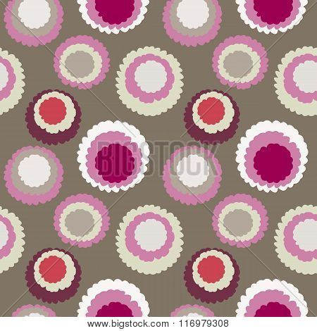 Seamless polka dot, motley texture. Abstract spotty pattern. Circles with torn paper effect. Soft gr