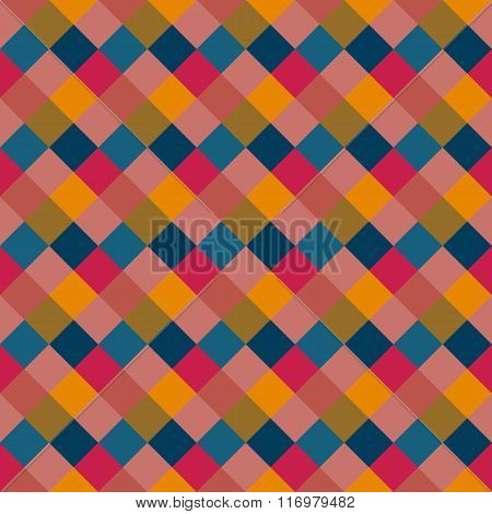 Seamless geometric pattern. Diagonal square, braiding, woven line background. Patchwork texture in w