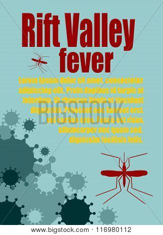 Vector Brochure, Report Or Flyer Design Template. Rift Valley Fever