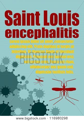 Vector Brochure, Report Or Flyer Design Template. Saint Louis Encephalitis