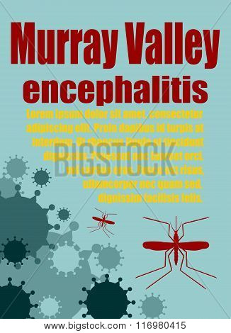 Vector Brochure, Report Or Flyer Design Template. Murray Valley Encephalitis