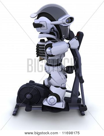 Robot on a Crosstrainer