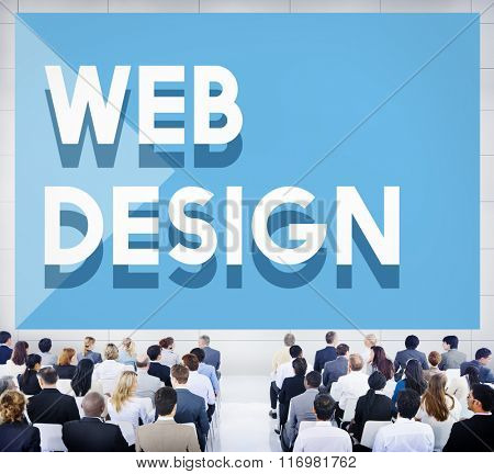 Web Design Software Technology Layout Blogging Concept