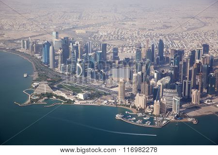 Aerial View On Doha