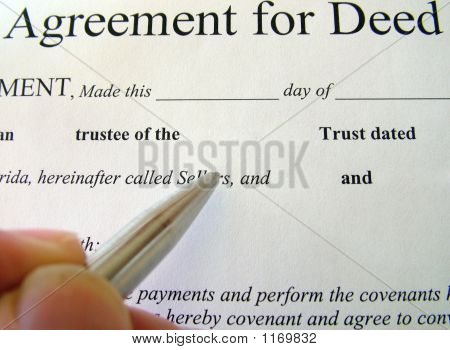 Agreement For Deed
