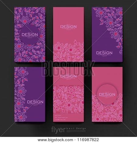 floral abstract vector brochure template. Flyer Layout