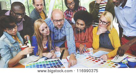 Diversity People Brainstorming Discussion Design Concept