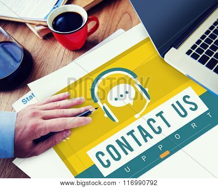 Contact Us Call Service Customer Care Concept