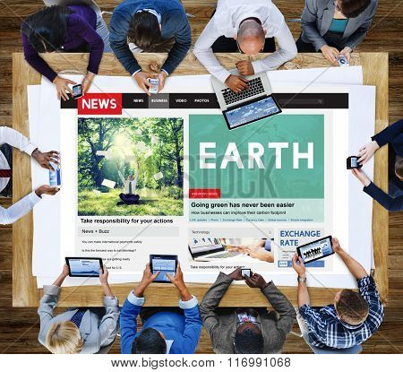 Earth Environmental Ecology Nature World Protect Concept