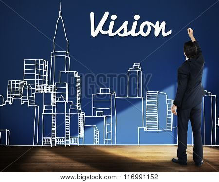 Vision Goals Building City Urban Concept