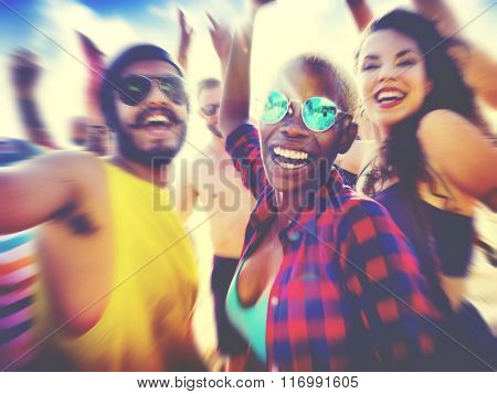 Friends Summer Beach Party Festival Concept