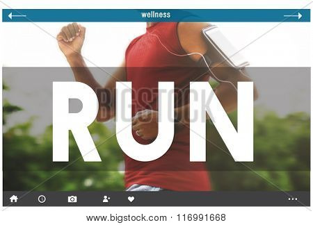 Run Runner Exercise Health Jogging Speed Rush Concept