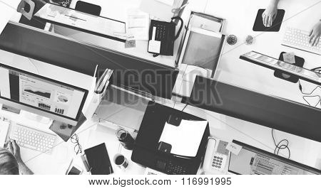 Accounting Team Department Working Busy Concept