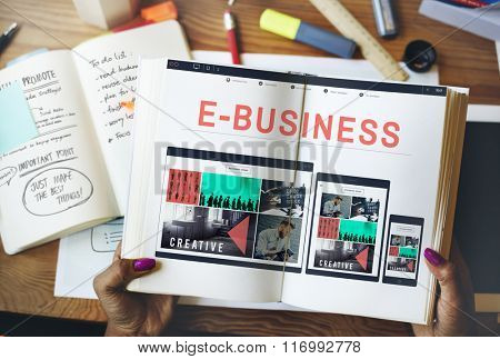 E-business E-commerce Connecting Technology Concept