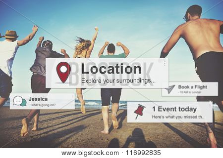 Location Journey Travel Destination Concept