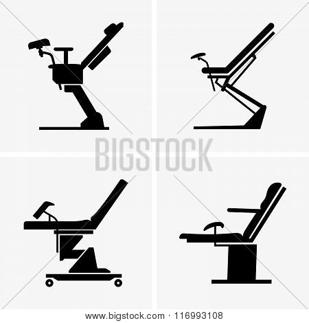 Gynecological chairs