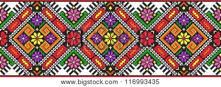 embroidered good like handmade cross-stitch ethnic Ukraine pattern