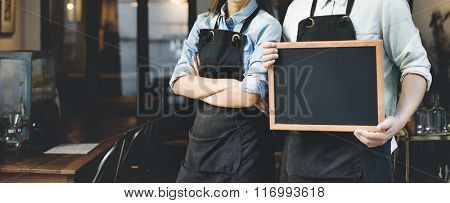Barista Staff Working Coffee Shop Concept