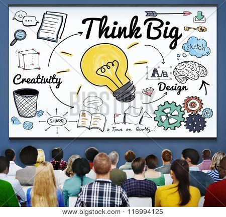 Think Big Faith Attitude Inspiration Optimism Concept