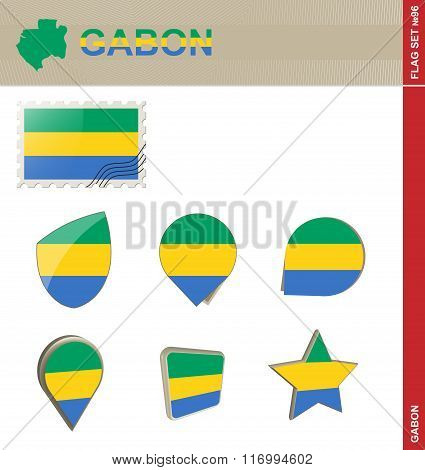 Gabon Flag Set, Flag Set #96