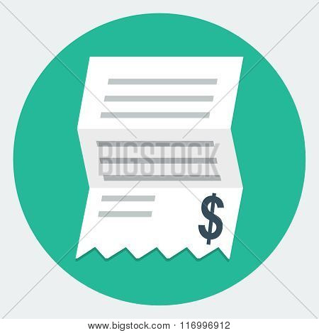 Vector Invoice Flat Icon