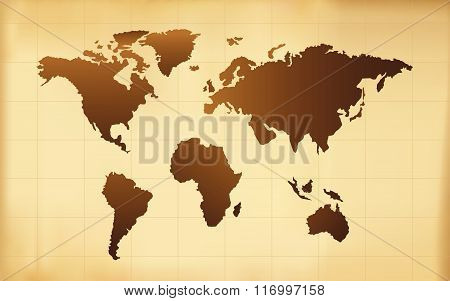 The Old World Map Vector Background