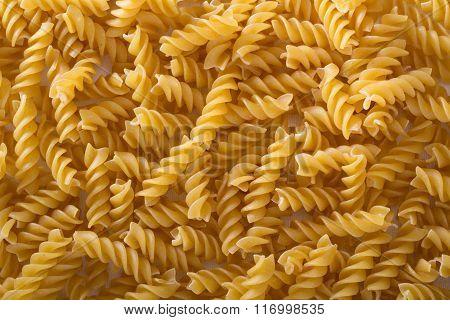 Pasta fusilli background