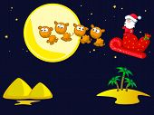 image of camel-cart  - Santa Claus flies on camel cart - JPG