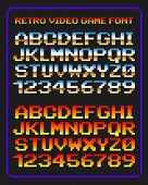 Retro video game font poster