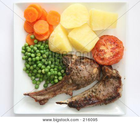 Lamb Chops Dinner 1