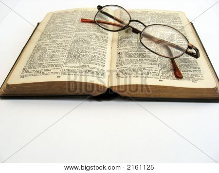 Book And Glasses