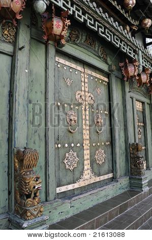 Door of Chinese Temple
