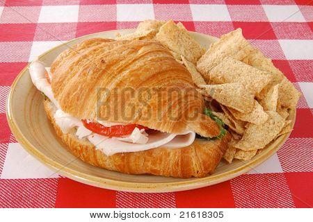 Croissant Sandwich And Multigrain Chips