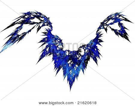 Blue abstract wing