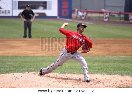 Portland Sea Dogs pitcher Stolmy Pimentel throws a pitch