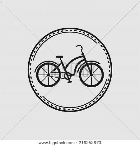 Bike badge outline